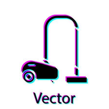 Black Vacuum cleaner icon isolated on white background. Vector Illustration Ilustração