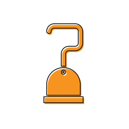 Orange Pirate hook icon isolated on white background. Vector Illustration Standard-Bild - 134763226
