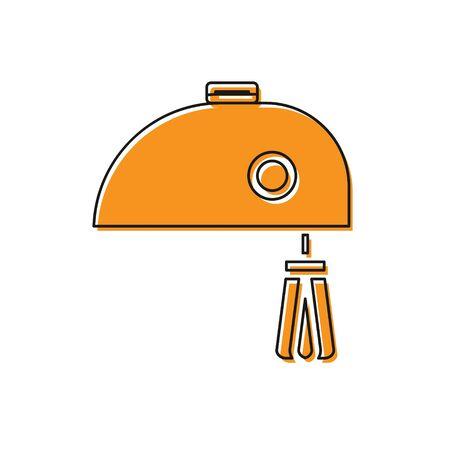 Orange Electric mixer icon isolated on white background. Kitchen blender. Vector Illustration