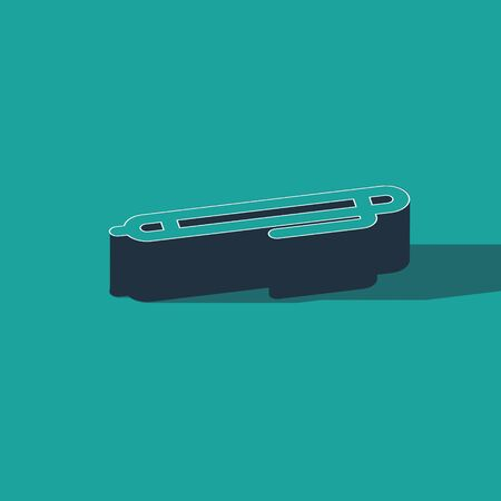 Isometric Pen line icon isolated on green background. Vector Illustration