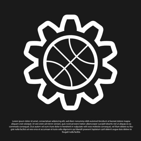 Black Planning strategy concept icon isolated on black background. Basketball cup formation and tactic. Vector Illustration Foto de archivo - 134825442