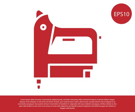 Red Electric construction stapler icon isolated on white background. Working tool. Vector Illustration 向量圖像