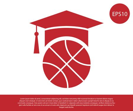 Red Basketball training icon isolated on white background. Vector Illustration