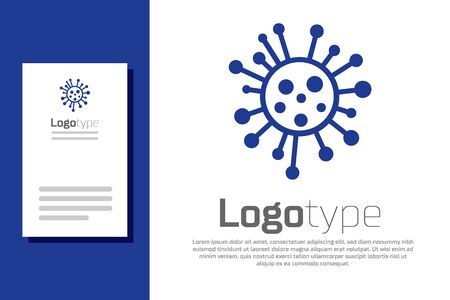 Blue Bacteria icon isolated on white background. Bacteria and germs, microorganism disease causing, cell cancer, microbe, virus, fungi. Logo design template element. Vector Illustration Stock Illustratie