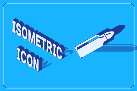 Isometric Bullet icon isolated on blue background. Vector Illustration 向量圖像