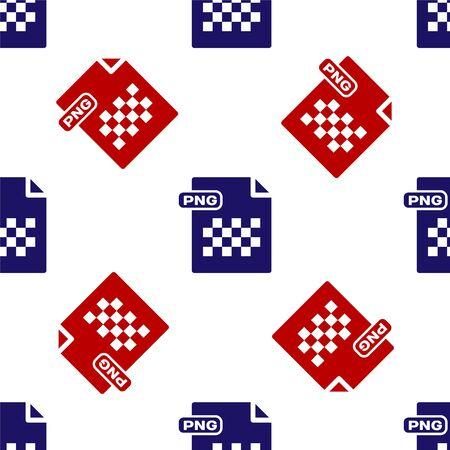Blue and red PNG file document. Download png button icon isolated seamless pattern on white background. PNG file symbol. Vector Illustration Stock Vector - 135495837