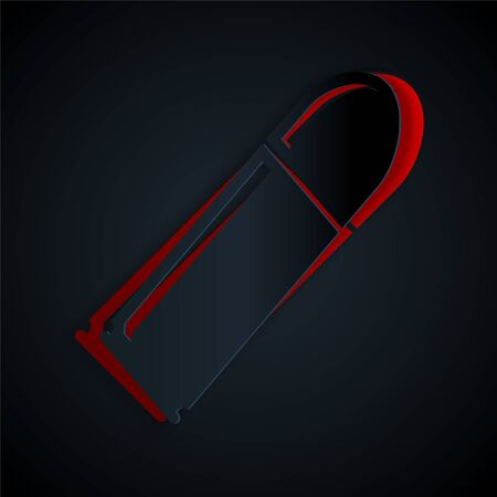 Paper cut Bullet icon isolated on black background. Paper art style. Vector Illustration 版權商用圖片 - 135540497
