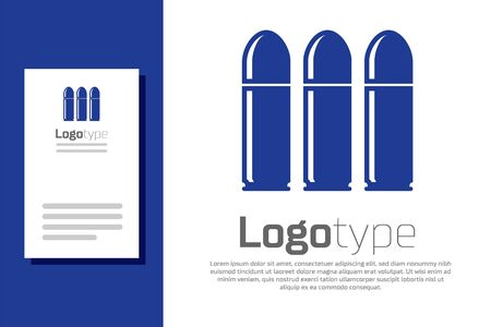 Blue Bullet icon isolated on white background. Logo design template element. Vector Illustration