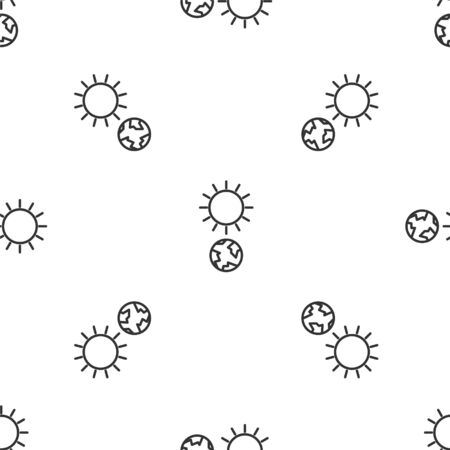 Grey line Solstice icon isolated seamless pattern on white background. Vector Illustration
