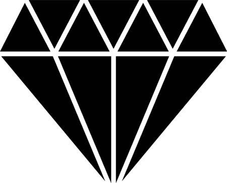 Icono de diamante negro aislado sobre fondo blanco. Símbolo de joyería. Piedra preciosa. Ilustración vectorial Ilustración de vector