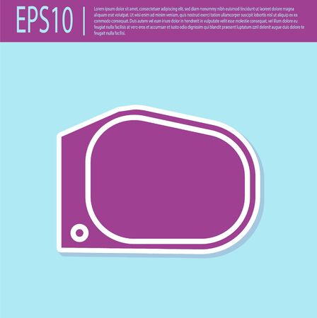 Retro purple Car mirror icon isolated on turquoise background. Vector Illustration Ilustração