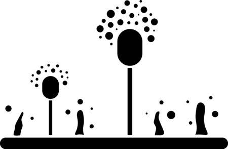 Black Mold icon isolated on white background. Vector Illustration