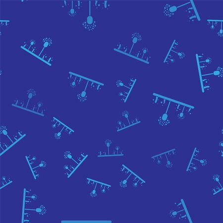 Blue Mold icon isolated seamless pattern on blue background. Vector Illustration