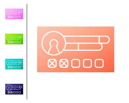 Coral Create account screen icon isolated on white background. Set color icons. Vector Illustration Vektoros illusztráció