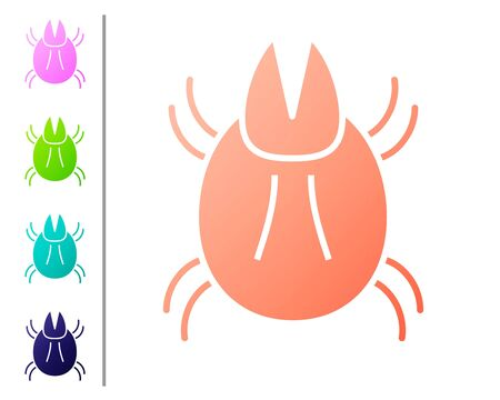 Coral Parasite mite icon isolated on white background. Set color icons. Vector Illustration