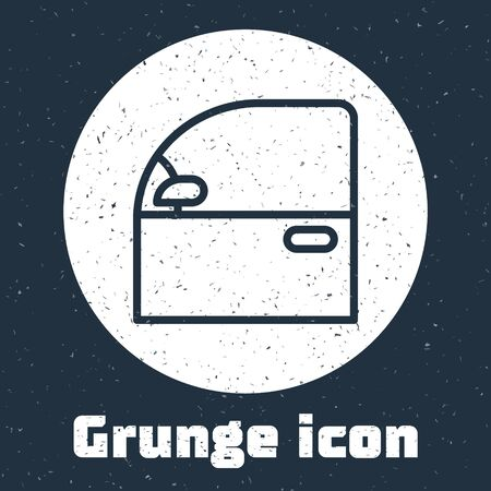 Grunge line Car door icon isolated on grey background. Monochrome vintage drawing. Vector Illustration