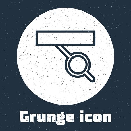 Grunge line Pirate eye patch icon isolated on grey background. Pirate accessory. Monochrome vintage drawing. Vector Illustration