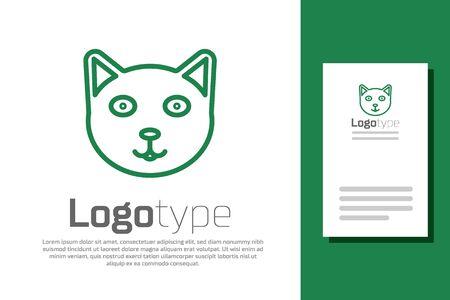 Green line Pet icon isolated on white background. Çizim