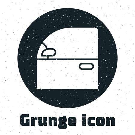 Grunge Car door icon isolated on white background. Vector Illustration