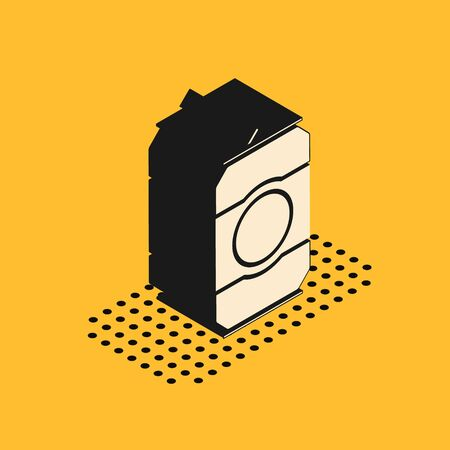 Isometric Beer can icon isolated on yellow background. Vector Illustration 写真素材 - 137735466