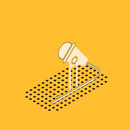 Isometric Microphone icon isolated on yellow background. On air radio mic microphone. Speaker sign. Vector Illustration Иллюстрация