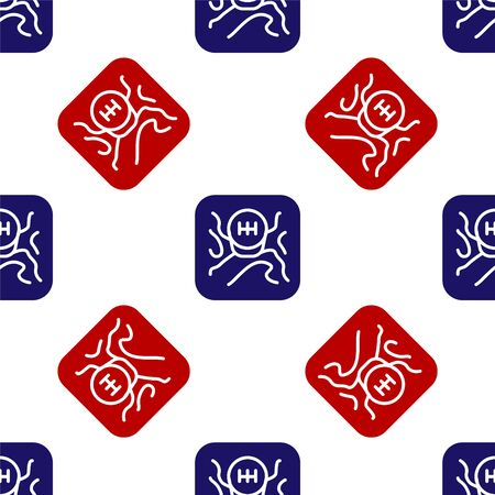 Blue and red Gear shifter icon isolated seamless pattern on white background. Transmission icon. Vector Illustration Illustration