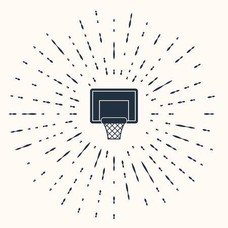 Grey Basketball backboard icon isolated on beige background. Abstract circle random dots. Vector Illustration Vektorové ilustrace