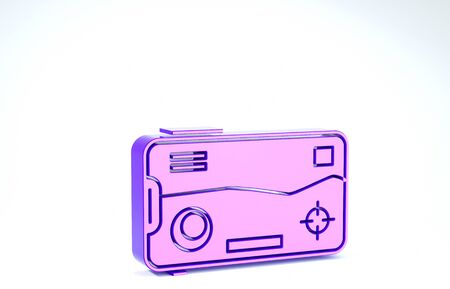 Purple Smartphone and playing in game icon isolated on white background. Mobile gaming concept. 3d illustration 3D render