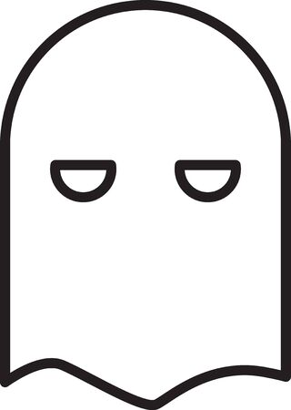 Black line Executioner mask icon isolated on white background. Hangman, torturer, executor, tormentor, butcher, headsman icon. Vector Illustration
