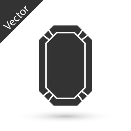 Grey Poker table icon isolated on white background.  Vector Illustration