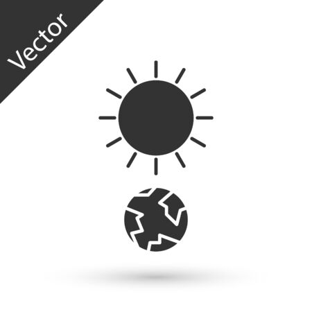 Grey Solstice icon isolated on white background. Vector Illustration Illustration