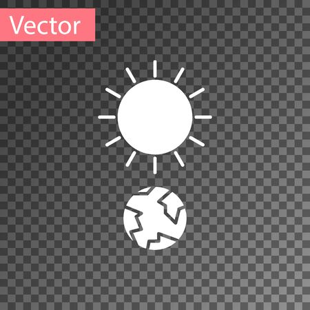 White Solstice icon isolated on transparent background. Vector Illustration