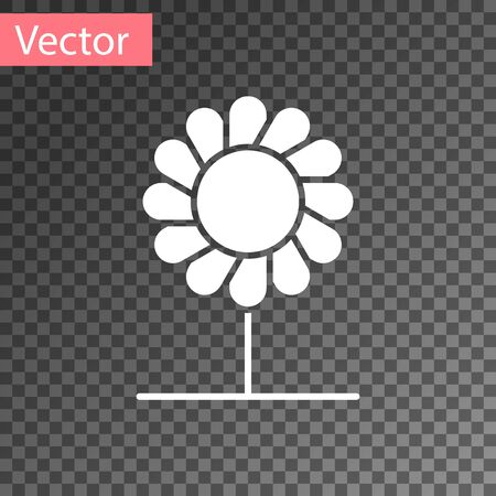 White Flower icon isolated on transparent background. Vector Illustration Illustration