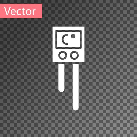 White Temperature and humidity sensor icon isolated on transparent background. Vector Illustration Ilustrace