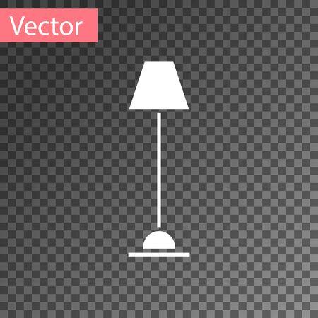 Icône de lampadaire blanc isolé sur fond transparent. Illustration vectorielle