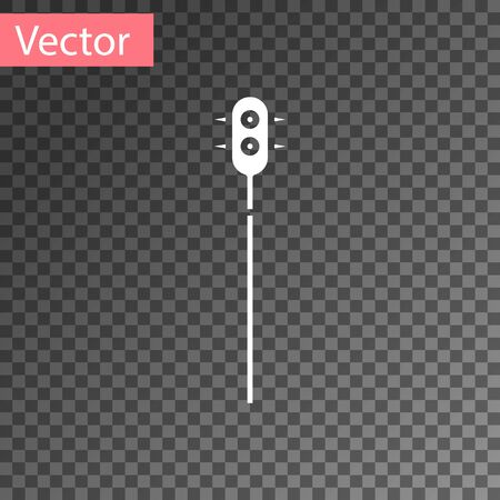 White Medieval chained mace ball icon isolated on transparent background. Medieval weapon. Vector Illustration Ilustrace