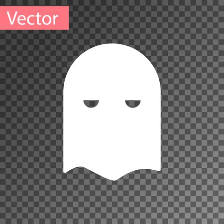 White Executioner mask icon isolated on transparent background. Hangman, torturer, executor, tormentor, butcher, headsman icon. Vector Illustration