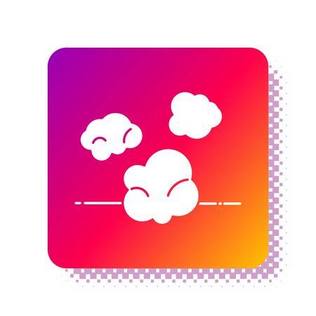 White Dust icon isolated on white background. Square color button. Vector Illustration Illusztráció