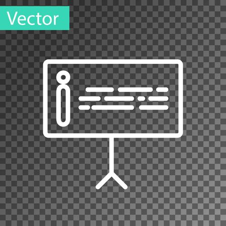 White line Information icon isolated on transparent background. Vector Illustration