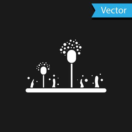 White Mold icon isolated on black background. Vector Illustration Illustration