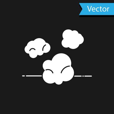 White Dust icon isolated on black background. Vector Illustration
