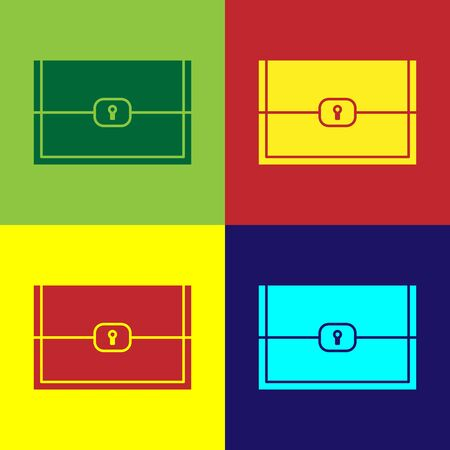 Color Chest for game icon isolated on color background. Vector Illustration