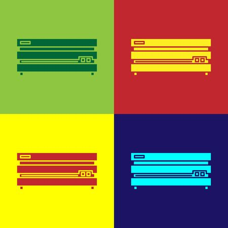 Color Video game console icon isolated on color background. Vector Illustration Ilustração