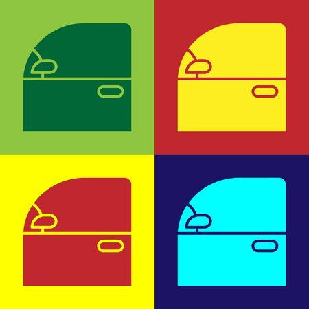 Color Car door icon isolated on color background. Vector Illustration