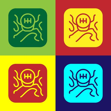 Color Gear shifter icon isolated on color background. Transmission icon. Vector Illustration