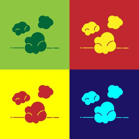Color Dust icon isolated on color background. Vector Illustration Illusztráció