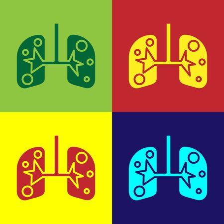Color Lungs icon isolated on color background. Vector Illustration Banco de Imagens - 138110390