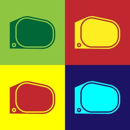 Color Car mirror icon isolated on color background. Vector Illustration