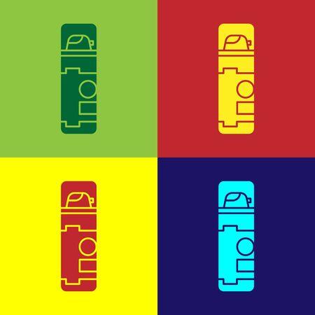 Color Shaving gel foam icon isolated on color background. Shaving cream. Vector Illustration Illustration