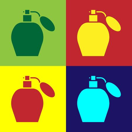 Color Perfume icon isolated on color background. Vector Illustration